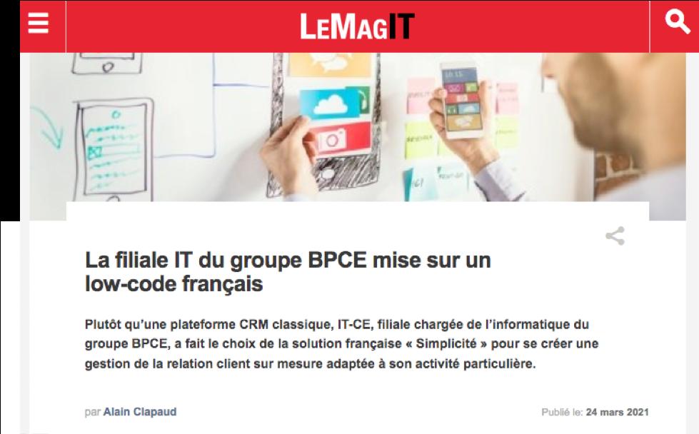 LeMagIT - Témoignage IT-CE